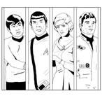 Lineart panels - Star Trek TOS