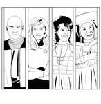 Lineart Panels - Star Trek TNG 01