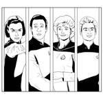 Lineart Panels - Star Trek TNG 02