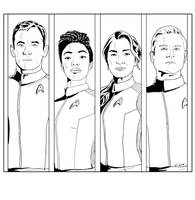 Lineart Panels - Star Trek Discovery by Dahkur