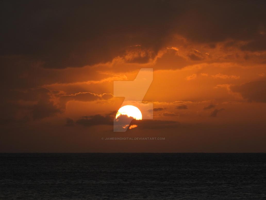 Wainae Sunset, Oahu by JamesInDigital