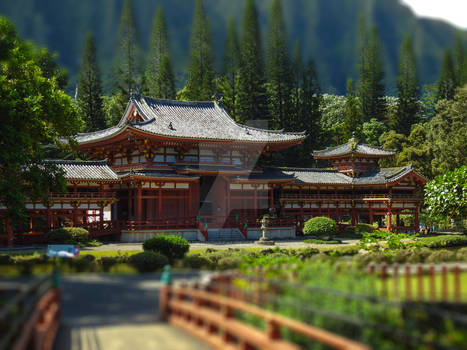 Byodo-In Tilt-shift