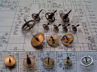 Steampunk Spinning Tops by aequinox