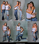 Two Women Pose Reference Stock Premium Content