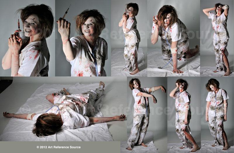 Zombie Nurse Stock by ArtReferenceSource