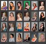 24 Beautiful Faces Stock Mega Pack Comm Use OK