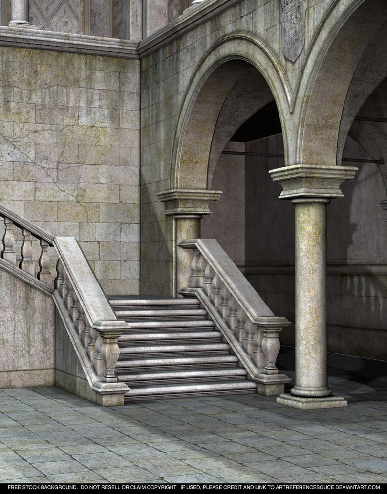 Free stock gothic staircase by artreferencesource on for Pre built stairs interior