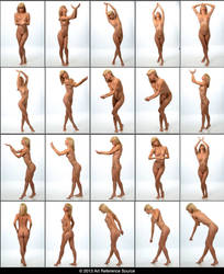Ivy 20 Elegant Nude Fairy and Fantasy Poses Stock by ArtReferenceSource