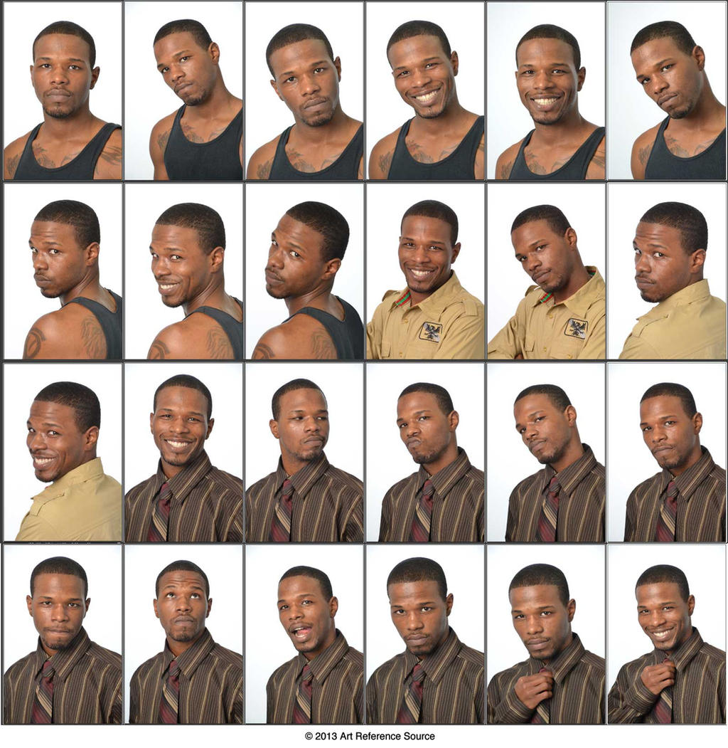 Cedric - 24 Head Shots and Varied Expressions by ArtReferenceSource