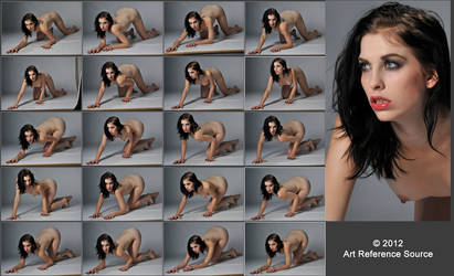 Jem 20 Nude Crawling Poses Stock Comm Use OK by ArtReferenceSource