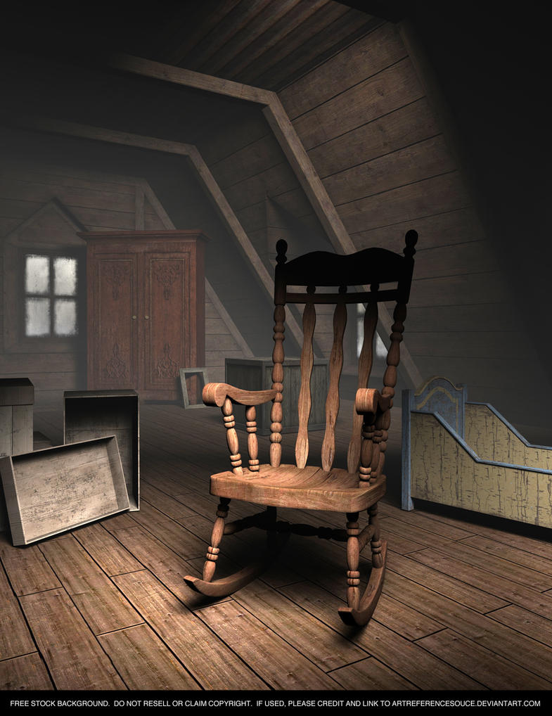 FREE STOCK Background Creepy Old Attic By ArtReferenceSource