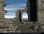 FREE STOCK Background Castle Ruins 2