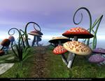 FREE STOCK BACKGROUND.  Magic Mushrooms.