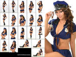 Molly as a sexy police officer