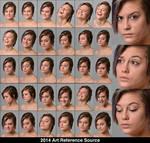 Elena 30 Facial Expressions Stock Comm Use OK