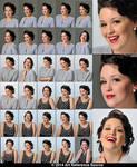 Coco 30 Retro Portraits and Expressions Stock