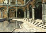 Free Stock Background - Italian Courtyard