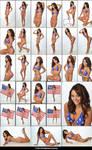 Stock:  Molly in US Flag Bikini