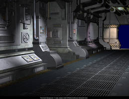Free Stock Background:  Generic Sci Fi Corridor by ArtReferenceSource