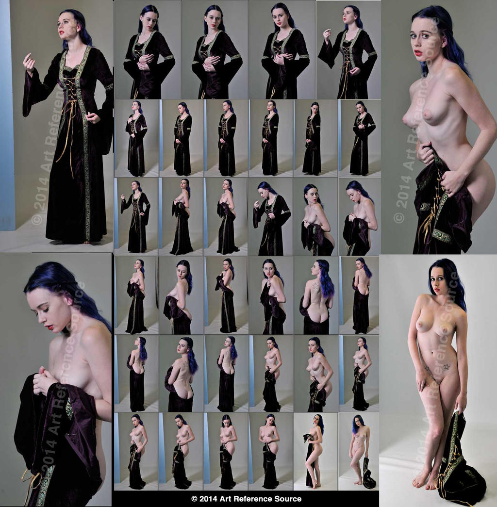 Stock:  Chelsea Christian Nudes with Velvet Gown by ArtReferenceSource