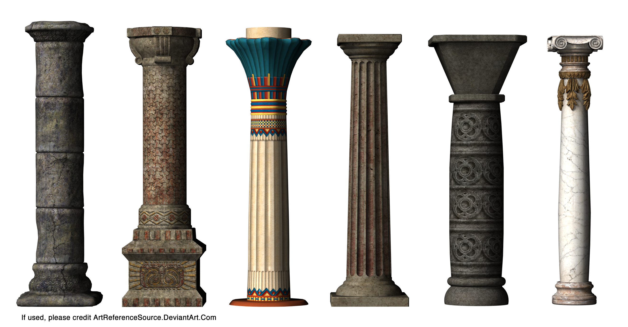 Stock: Column Styles by ArtReferenceSource on DeviantArt