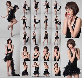 Stock:  April in Roaring 20's Style Flapper Dress