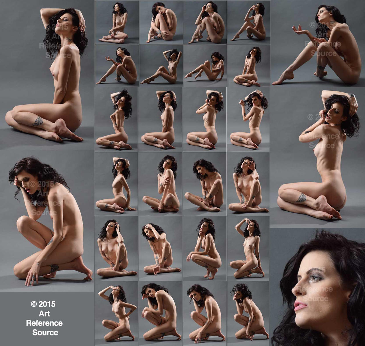New Model Kimberly: Stock 24 Seated Nudes by ArtReferenceSource
