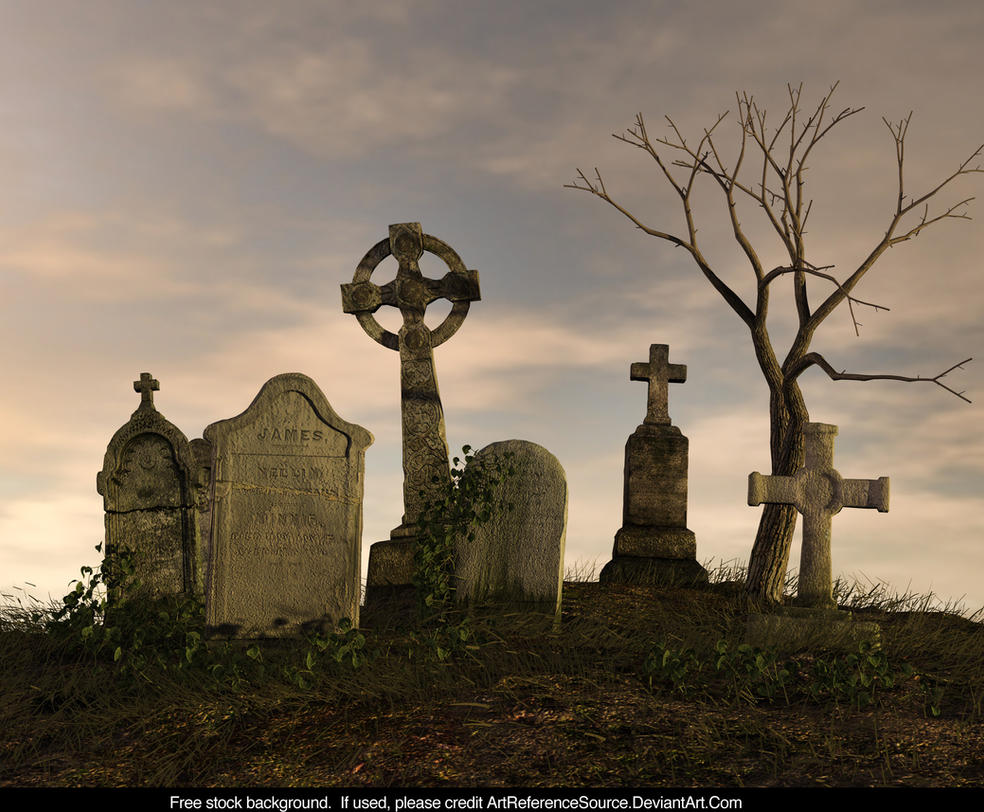 Free Stock Background:  Cemetery by ArtReferenceSource