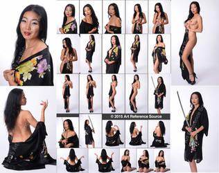 New Model Nadia: Sensual Portraits with Kimono by ArtReferenceSource