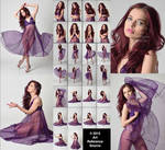 Stock:  Expressive Photos of April in Purple Dress