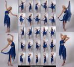 Stock:  Kari 25 elegant dance poses in blue dress