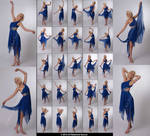 Stock:  Kari 25 elegant dance poses in blue dress