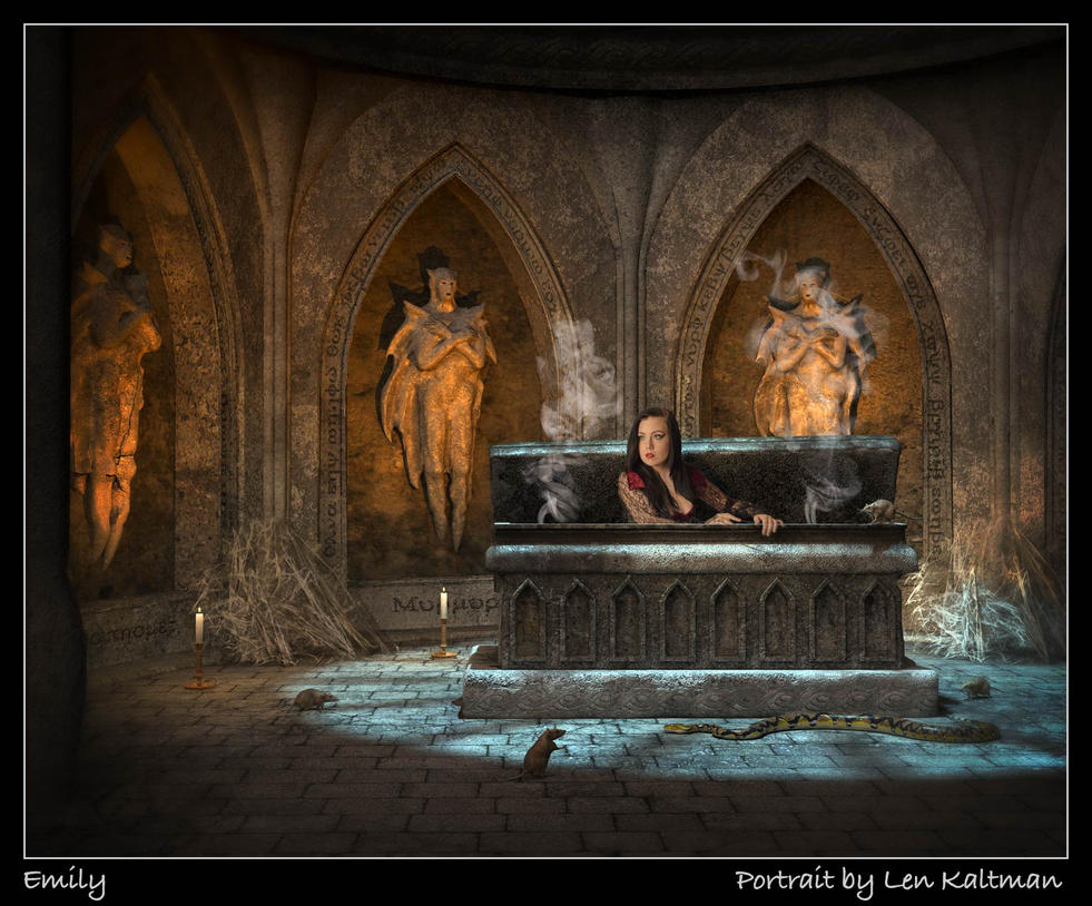 Emily in her tomb by ArtReferenceSource