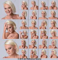 Stock: Kari 24 Expressions by ArtReferenceSource