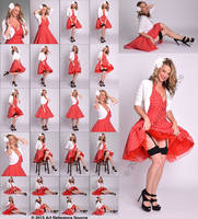 Stock:  Malinda 24 retro pinup poses by ArtReferenceSource