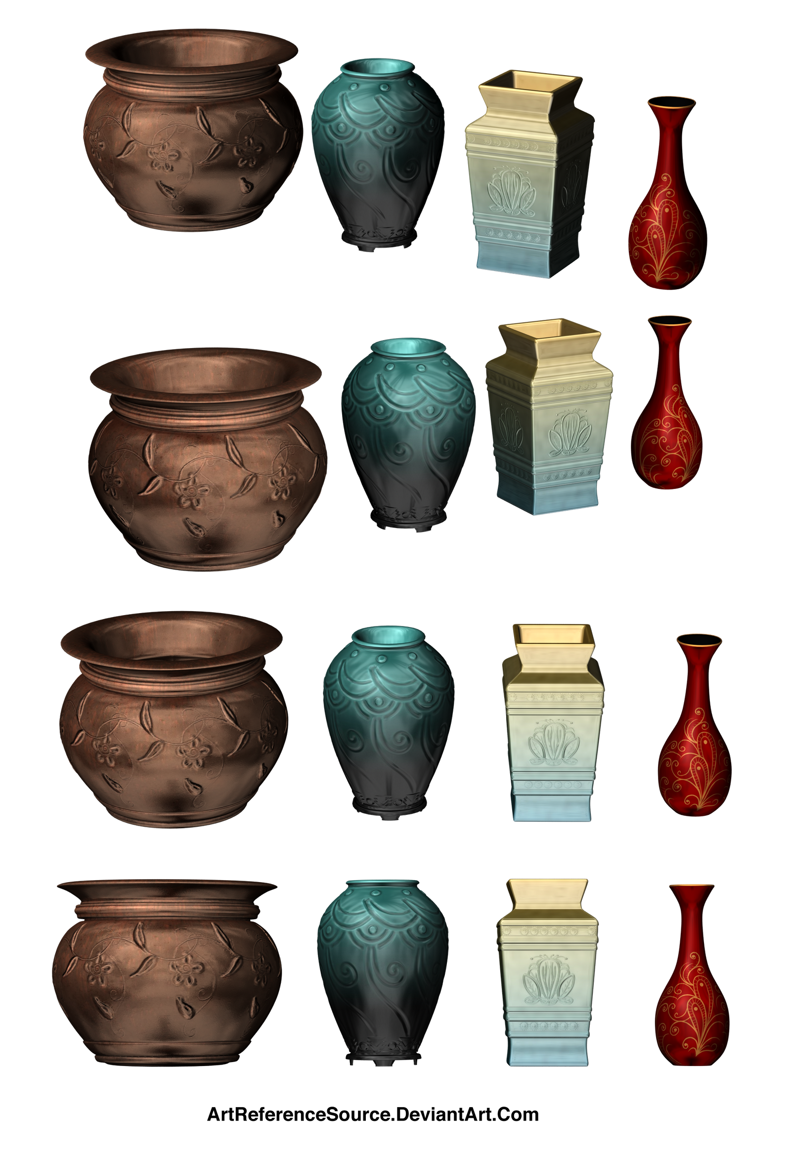 Wooden barrels 1 png by fumar porros on deviantart -  Artreferencesource Free Stock Png Colorful Vases And Bowls By Artreferencesource