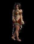 Free Stock PNG: Woman in Stylized Roman Attire