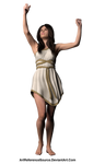Free Stock PNG:  Woman in roman style dress