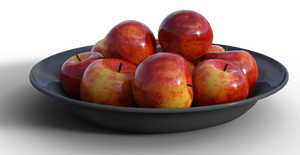 Free Stock PNG:  Bowl of Apples