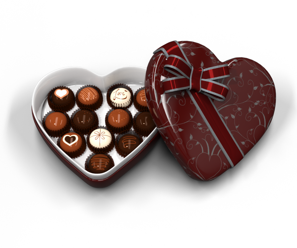 Heart Shaped Box of Chocolates by ArtReferenceSource on ...