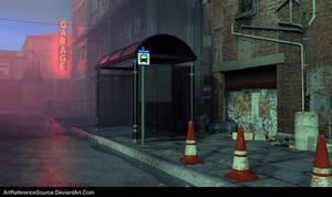 Free Stock Background: City Street at Dusk