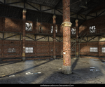 Free Background:  Deserted Warehouse PNG