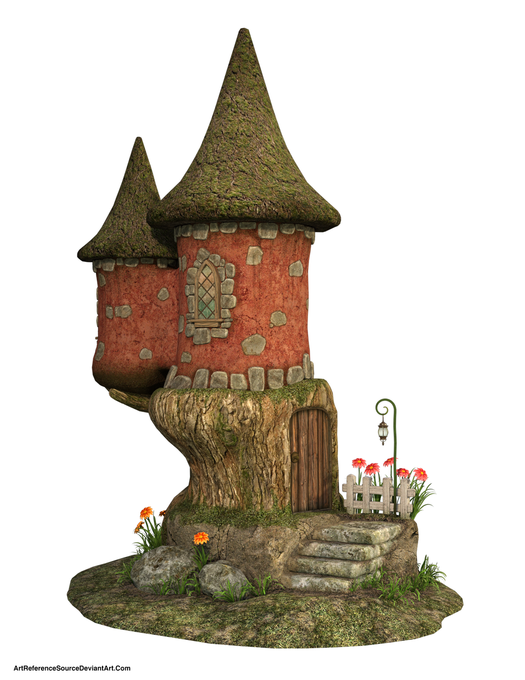 Free Stock PNG:  Cute Fairy House by ArtReferenceSource
