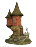 Free Stock PNG:  Cute Fairy House