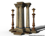 Free Stock PNG:  Decorated Columns