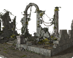 Free Stock PNG:  Jungle Ruins