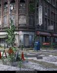 Free Stock Background: Destroyed City Scene