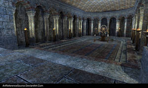 Free Stock Background:  Cave of Secrets with Altar by ArtReferenceSource
