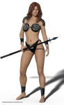 Free Stock PNG:  Beautiful Young Warrior