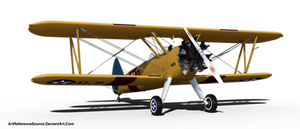Stock:  Biplane PNG